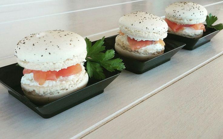 macarons salati - salmone -robiola