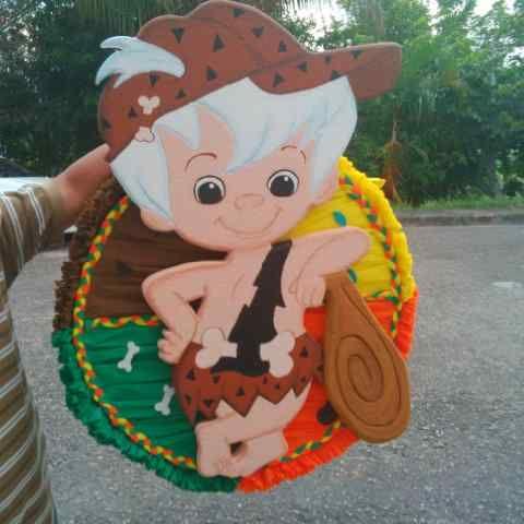 Pi ata bam bam decoracion fiestas infantiles pinterest for Decoracion de pinatas infantiles