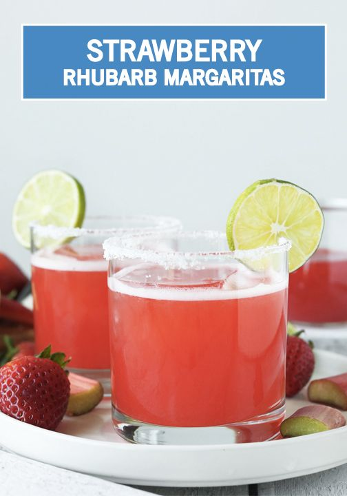 your favorite summer flavors with this Rhubarb Strawberry Margarita ...