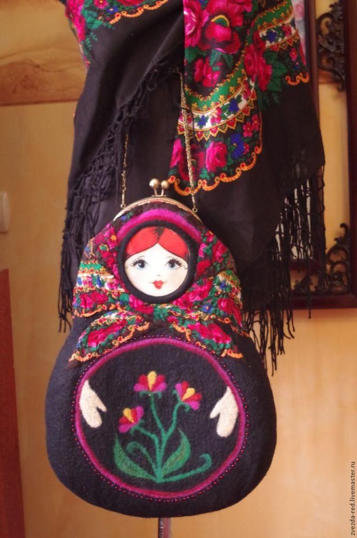 """Мастер-класс по валянию сумки """"Матрёнушка"""" с использованием платка - Ярмарка Мастеров - ручная работа, handmade"""