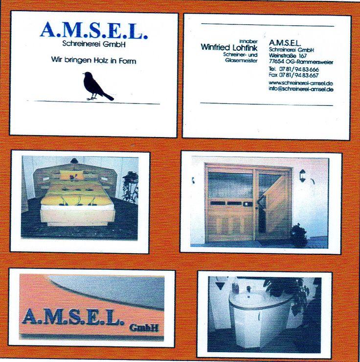 Schreinerei A.M.S.E.L. GmbH Inhaber: Winfried Lohfink Weinstr. 167 77654 Offenbg.-Rammersweier Tel: 0781-9483666 Fax: 0781-9483667