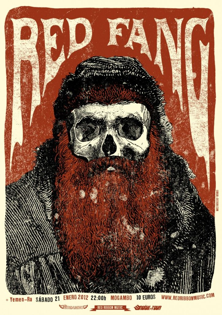 Red Fang poster by Error! Design