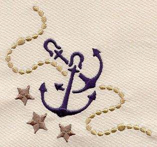 Anchors Aweigh Corner S0498 embroidery library 3.88 x 3.87 inches