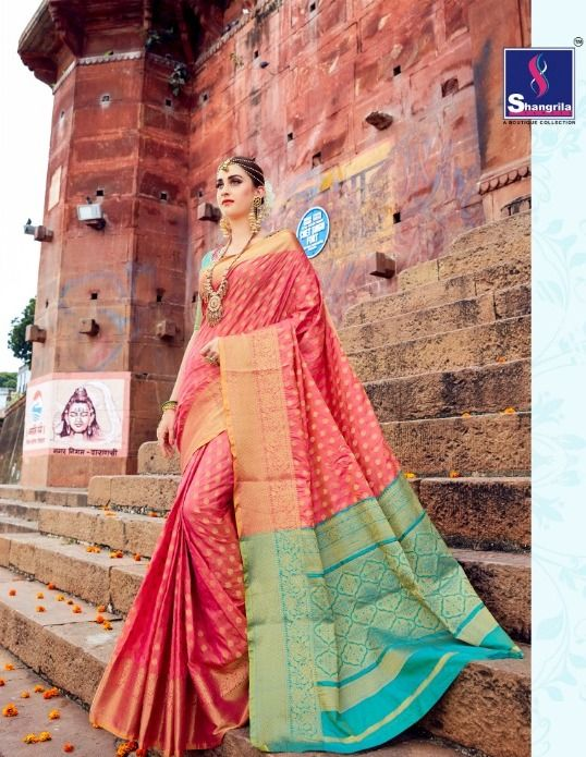 b410765957 Book order or inquiry now call or whatsapp : ( +91 ) 8866444471 shangrila  saree banaras ghat silk sarees collection wholesale price surat #saree,  #Wedding, ...