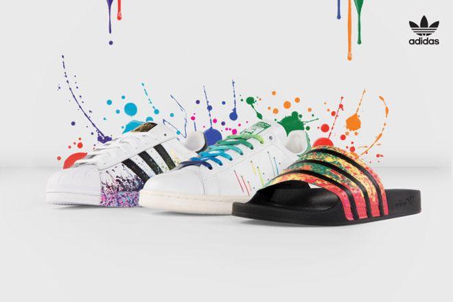 Adidas reinventa modelos icônicos em homenagem ao orgulho gay - veja aqui - Blue Bus