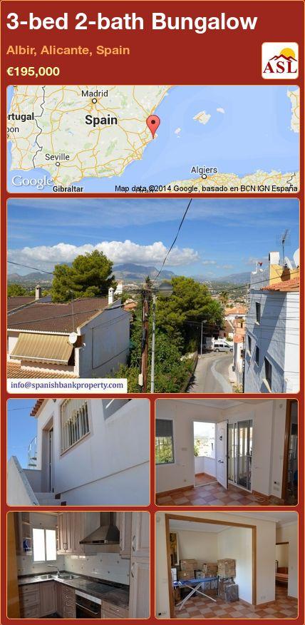 3-bed 2-bath Bungalow in Albir, Alicante, Spain ►€195,000 #PropertyForSaleInSpain