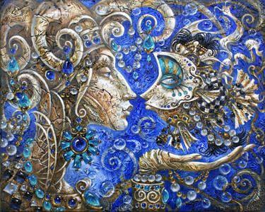 "Artist Elvira Baranova. Painting, ""Soul in stone""."