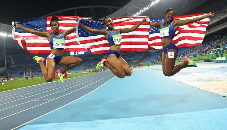 Os Estados Unidos monopolizaram o pódio dos 100m barreiras, com Brianna Rollins…