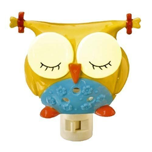 NEW Out on a Whim Porcelain Night Owl - Yellow Night Light