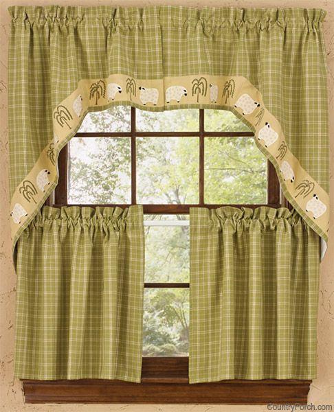 Park Design Sturbridge Lined Fishtail Swag Black: Lord Is My Shepherd Window Curtain Swag