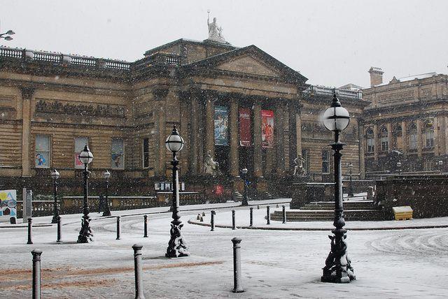 Walker Art Gallery in the snow. http://www.liverpoolmuseums.org.uk/walker/