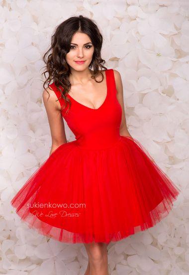 PANSY - Gipiurowa gorsetowa sukienka ecru
