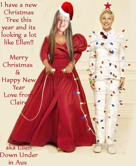 I have a new Christmas Tree this year and its looking a lot like #Ellen LOL  Ellen Down Under in Aus