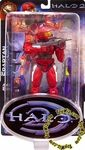"""Name: Halo 2 LE Series Red Spartan Version 2 Manufacturer: Joyride Studios Series: Halo 2 Release Date: September For ages: 4 and up UPC: 036881759409 Details (Description): From the hit XBOX game, Halo 2 comes Joyride Studios awesome figures. Each of these 8"""" figures has tons of articulation and features true-to-game details. Each figure comes with themed weapons"""