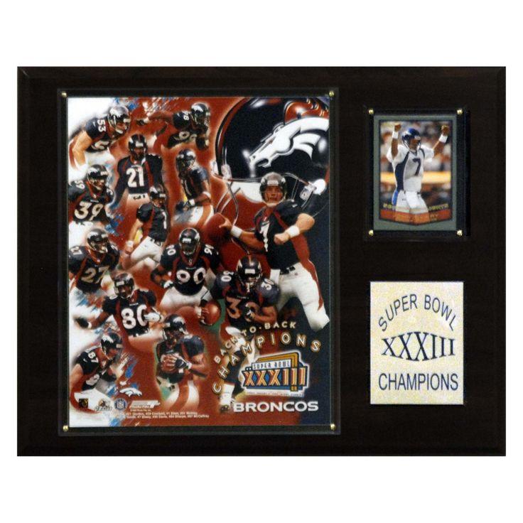 NFL 12 x 15 in. Broncos Super Bowl XXXIII Champions Plaque - 1215SB33