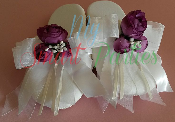Floral Slippers, Headband and Slippers set  www.mysmartparties.com #floral slippers #babyshower