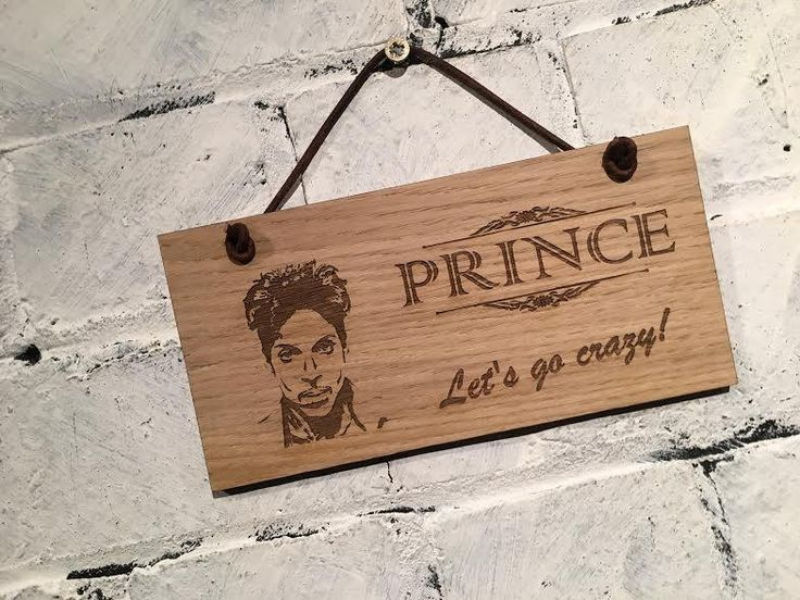 """Prince """"Let's go crazy!"""" Shabby chic wooden wall plaque/sign. Great gift for family friends fans. by EngraviaDigital on Etsy"""