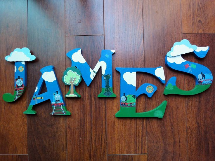 Baby Nursery & Kid's Room Hanging Disney Pixar Cars Thomas the Train Trains Trucks Name Letters. $7.00, via Etsy.