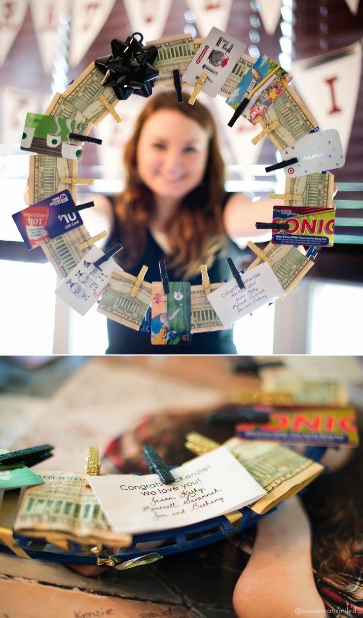 High school graduation money-wreath gift.
