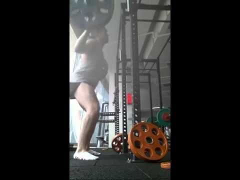 Our PT Benn Dyson at Genesis Mentone demonstrating - 100kgs Back Squats full depth http://genesistrainer.com.au/bdyson