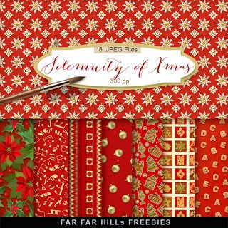 New Freebies Kit - The Solemnity of Christmas:Far Far Hill - Free database of digital illustrations and papers