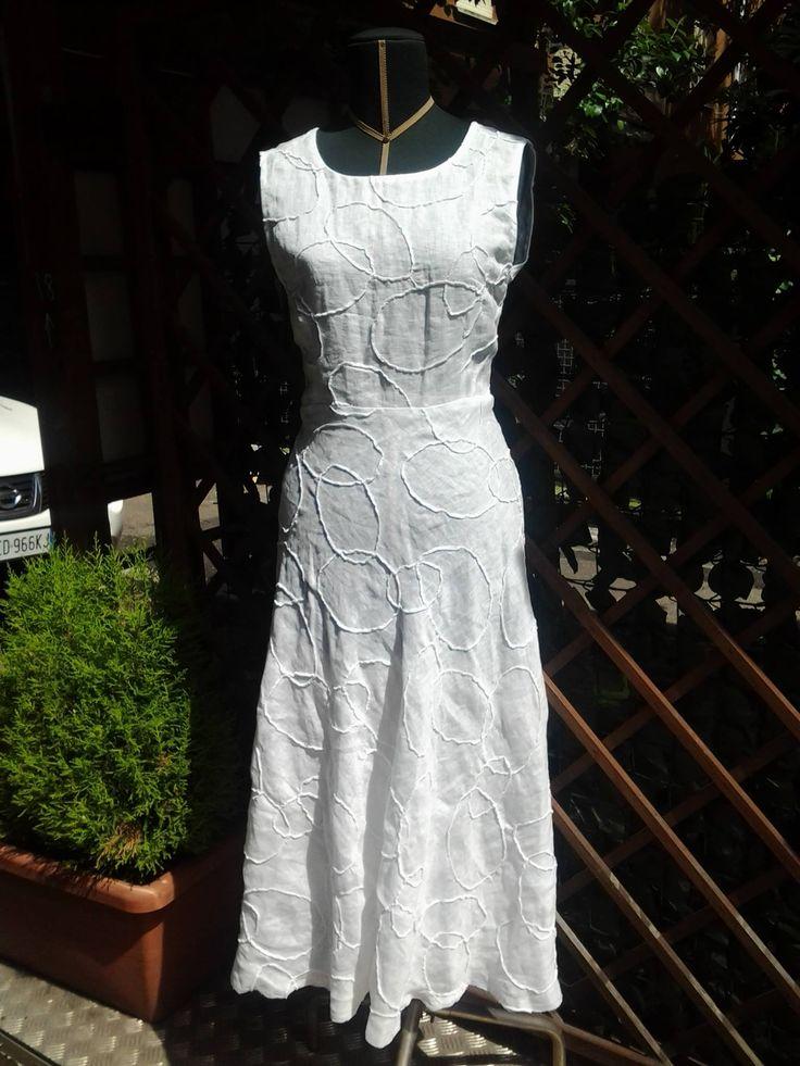 abito bianco di lino