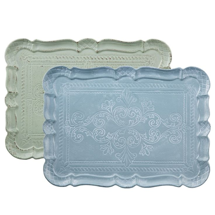 Set of 2 Rectangular Trays - Nel Lusso - on Temple & Webster today
