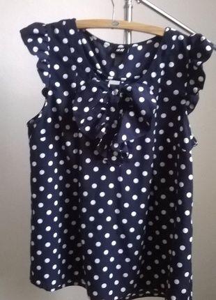 Kup mój przedmiot na #vintedpl http://www.vinted.pl/damska-odziez/bluzki-z-krotkimi-rekawami/11212874-hm-bluzka-grochy-retro