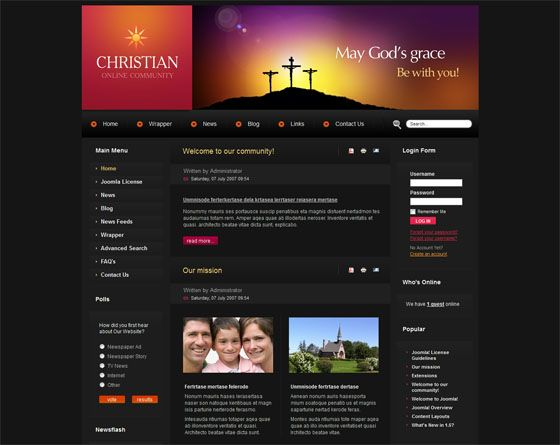 10 Free and Premium Church Joomla Templates