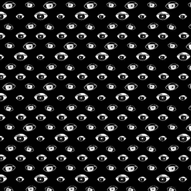 Watching eyes by @lostcontrolart   #eyes #pattern #print #blackwhite