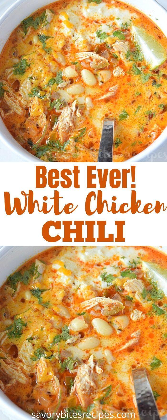 The 30 Minute Best Creamy White Bean Chicken Chili Recipe White Bean Chicken Chili Creamy Chicken Chili Dinner Recipes Crockpot