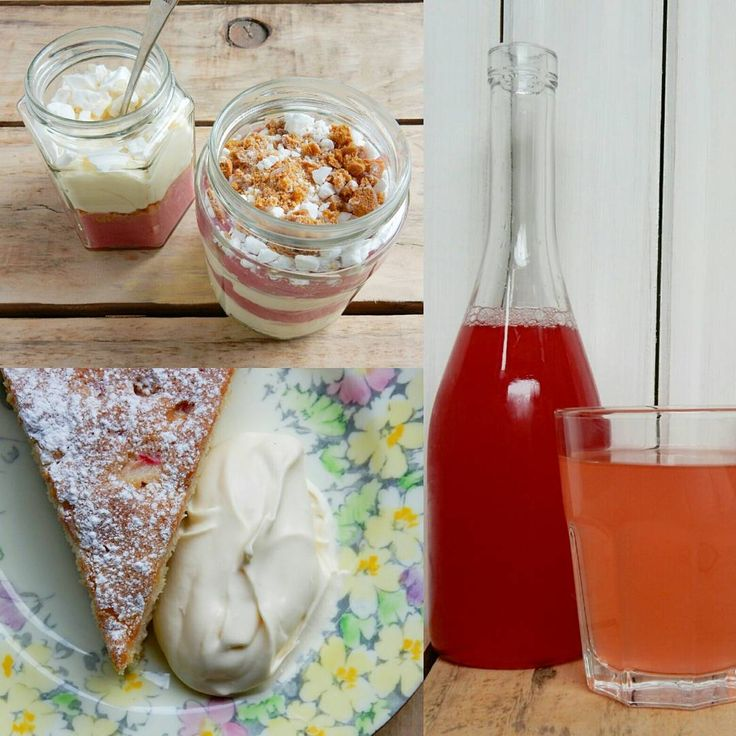 Find my recipes for rhubarb cake and rhubarb and custard fool over on our blog.