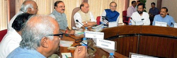 Union Home Minister Rajnath Singh addressing APD meeting at Parliament House in New Delhi on Wednesday.
