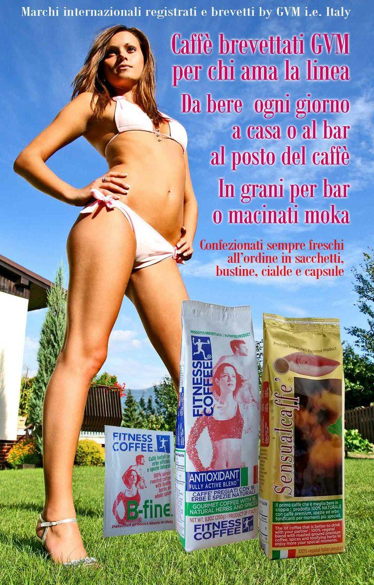 Caffè brevettati per chi ama la linea. Da bere ogni giorno a casa o al bar al posto di caffè tradizionale. Fitness Caffè, Fitness Tè, Fitness Orzo