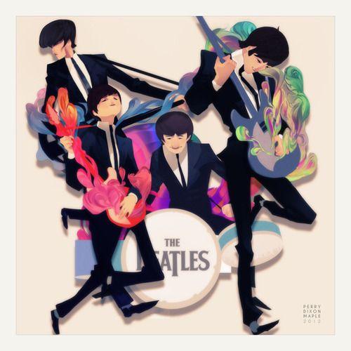 X__X • 死 者 の 顔 •The Beatles, Rainbows Colors, Perry Maple, Beatles Art, Colors Art, Digital Art, Art Show, Art Pop, Perry Dixon
