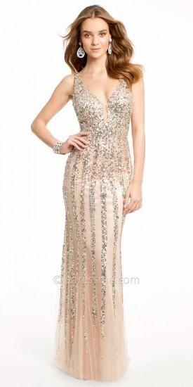 Vertical Sequin Stripes Prom Dresses By Dave And Johnny #designer #dresses #prom #edressme #pretty #prom2k15 #beautiful #promdresses #designerdresses