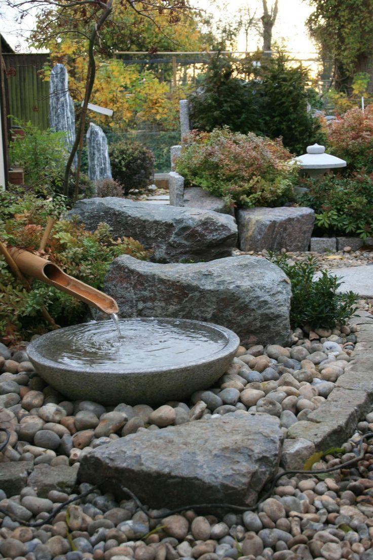Salon De Jardin Asiatique arrangement de tsukubai japonais traditionnel #japanes