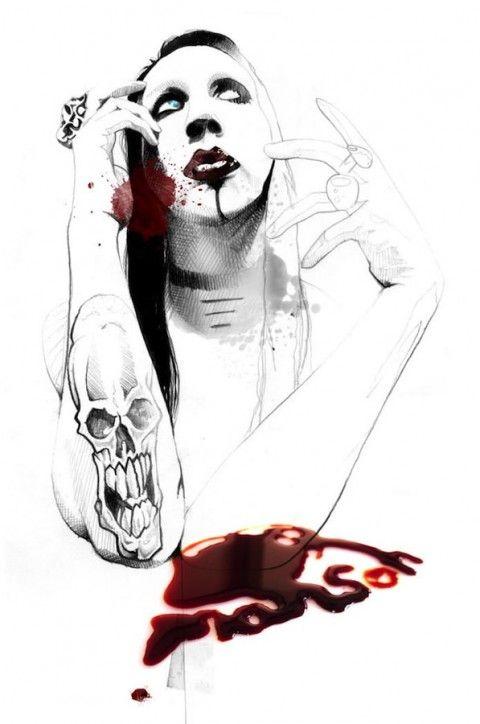 Illustration - David Despau - The Mushroom Company - Marilyn Manson