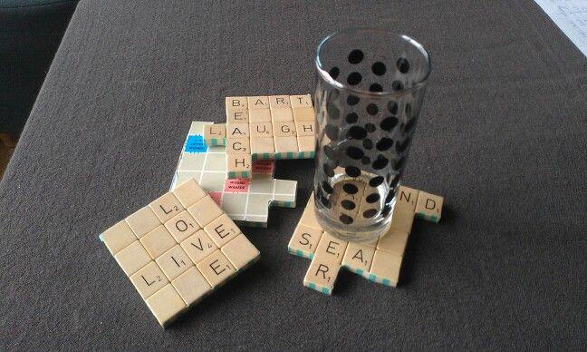 Scrabble onderzetters