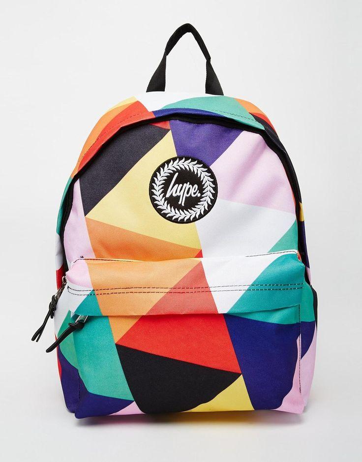 Image 1 of Hype Geometric Multi-Coloured Backpack
