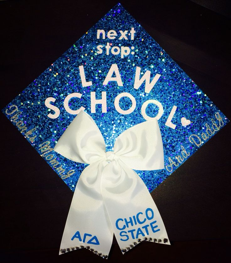 Chico State Graduation Cap 2015. AGD, Law School  Alpha Gamma Delta