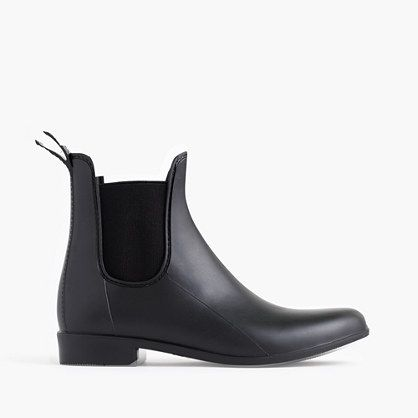 "A sleek, matte rain boot makes inclement weather way more tolerable. <ul><li>Half sizes order up.</li><li>1"" heel.</li><li>PVC upper and sole.</li><li>Import.</li></ul>"