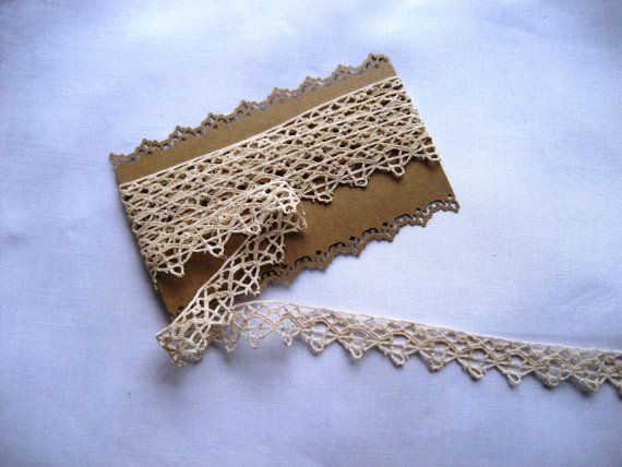 French Vintage Narrow Lace Edging  22mm wide  2 by Chezpetitpica, €7.50