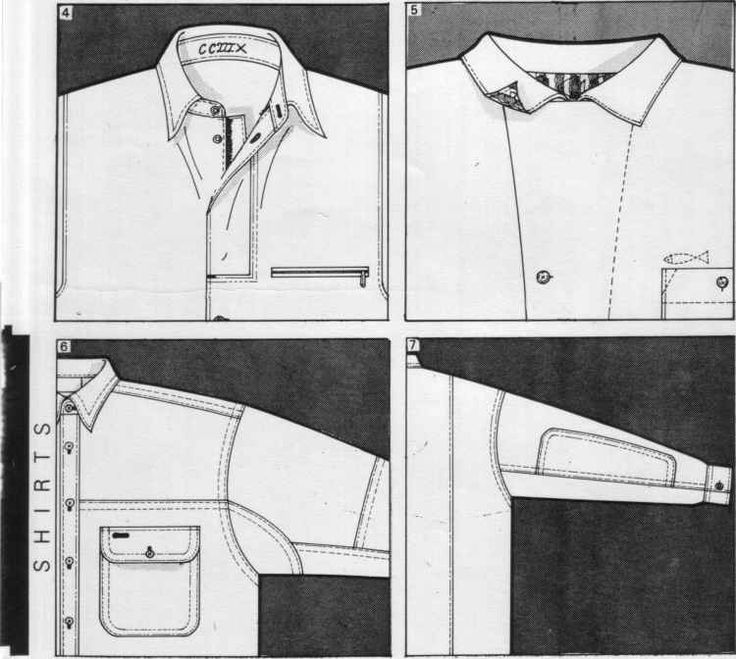 Button Collar Shirt Layout Template