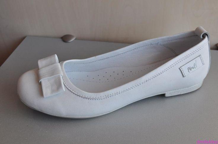 Białe balerinki Emel e2051-4 sklep internetowy DMD
