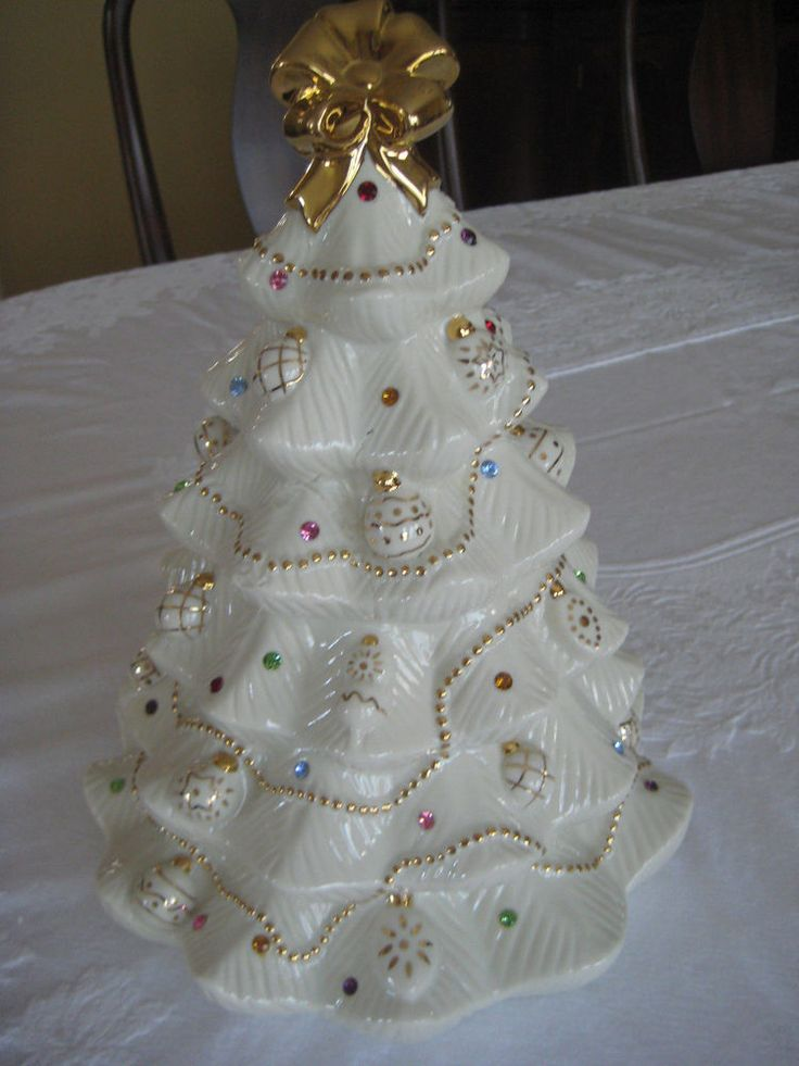 Lenox Cookie Jar Christmas Jeweled Christmas Tree - New in Box