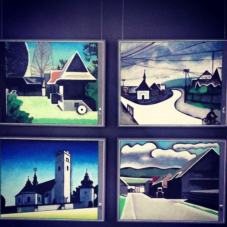 Fragment wystawy: Malarstwo: ostatnie 15 lat. Jacek Dłużewski #encek #kulturaKRK #art #exhibition #nck  #painting #gallery