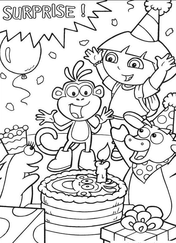 Dora the Explorer coloring page