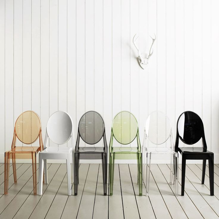 Fabulous Philippe Starck Victoria Ghost Chairs for Kartell. Wish list for my modern vacation house in my next life..