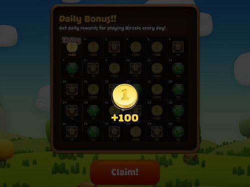 Birzzle Fever Daily Reward: screenshots, UI